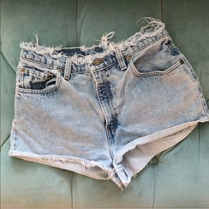 LEVIs high waisted denim cutoff shorts